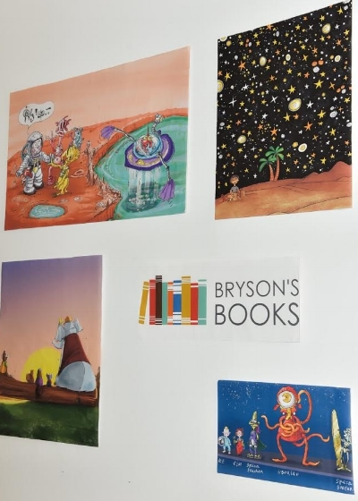Illustrations from various books written by Bryson Reaume for Bryson's Books.