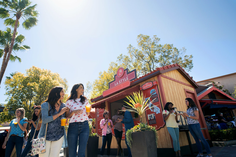 "Disney California Adventure Food & Wine Festival takes place March 1 to April 23, 2019. Guests will explore California-inspired cuisine and beverages, plus live entertainment, family-friendly seminars and cooking demonstrations. Kids can even join the fun with hands-on ""cooking"" experiences that end with a tasty surprise. (Disneyland Resort)"