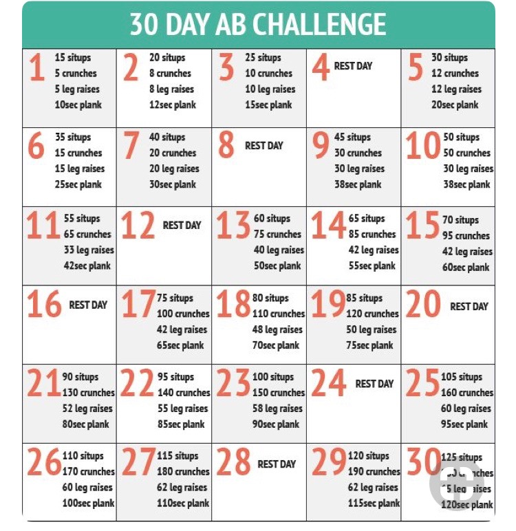 30 Day AB challenge. JOIN ME.. HASHTAG #MC30Dab