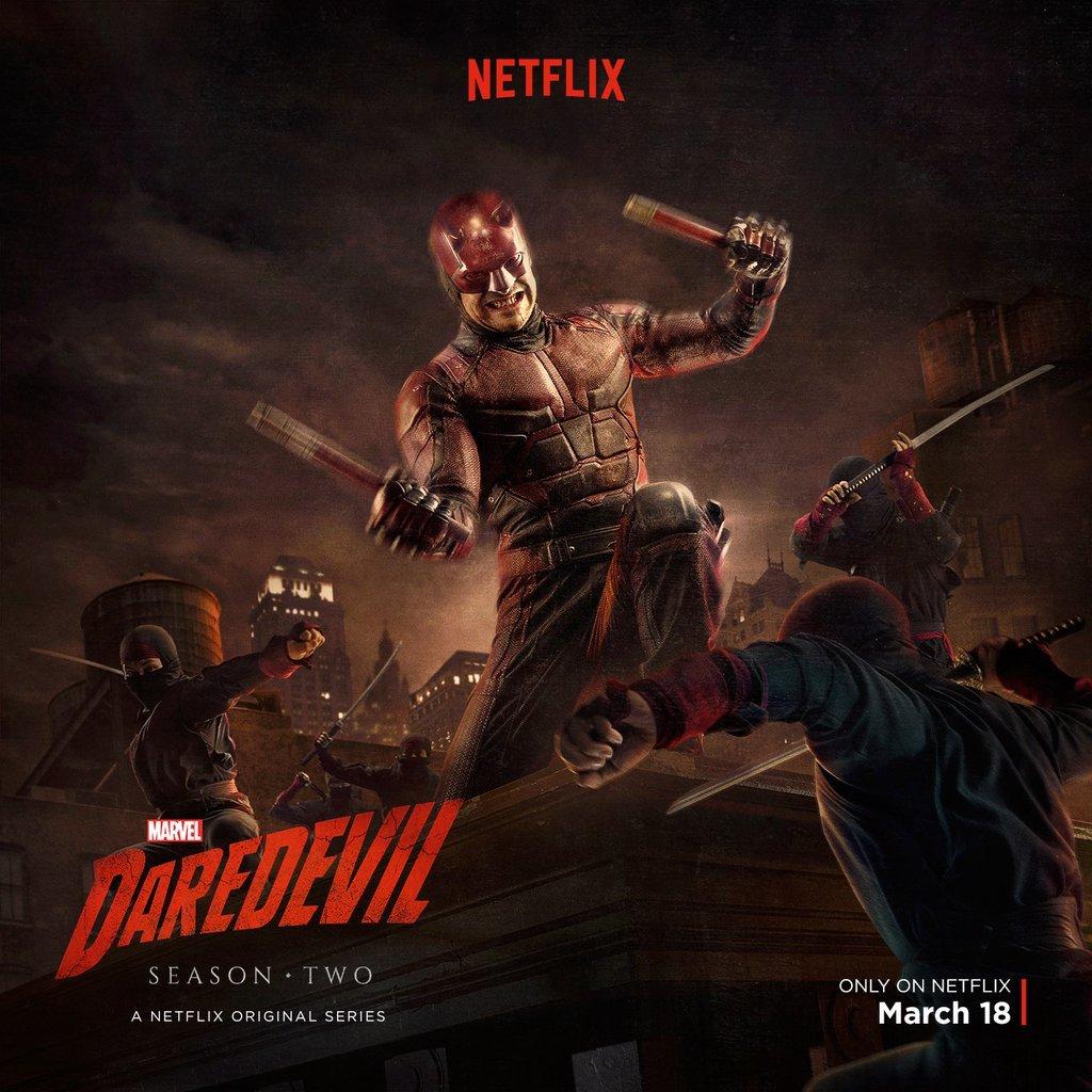 Daredevil se enfrenta a The Hand en el nuevo póster de su segunda temporada.