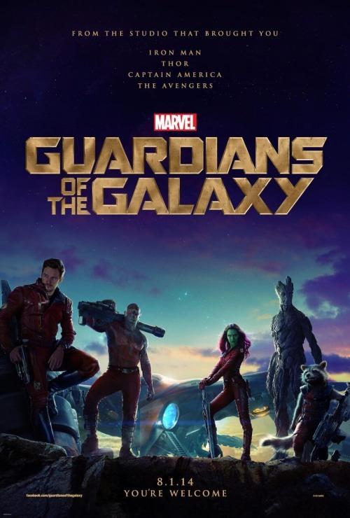 """Poster de """"Los Guardianes de la Galaxia"""" lo nuevo de Marvel."""
