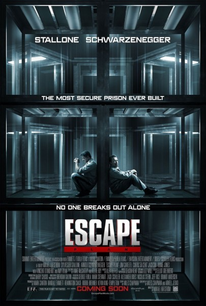 """Ya tenemos poster para """"Escape Plan"""" la nueva película de acción protagonizada por Stallone y Schwarzenegger."""