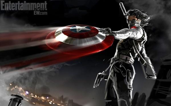 """Un nuevo """"Concept art"""" de Marvel desvela el aspecto de """"El soldado de invierno"""" para la nuevapelículade ElCapitánAmérica."""
