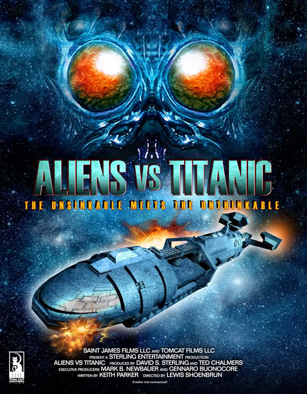 "Poster de ""ALIENS VS TITANIC"""