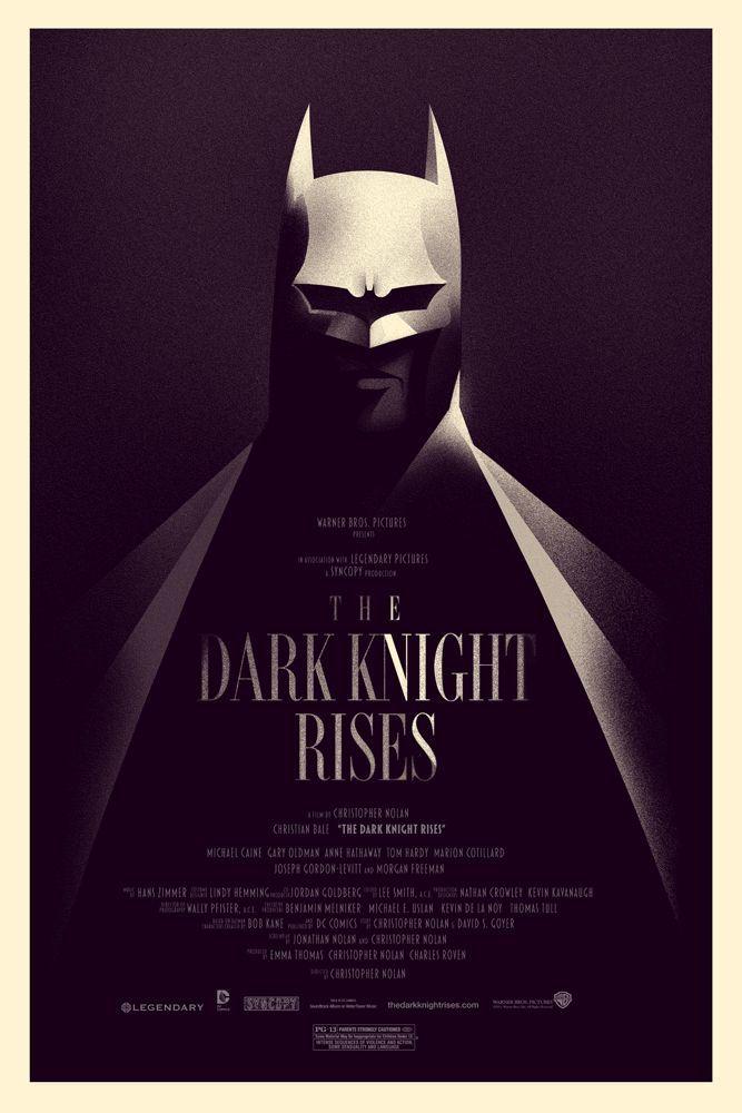 """Mondo poster de """"THE DARK KNIGHT RISES"""""""
