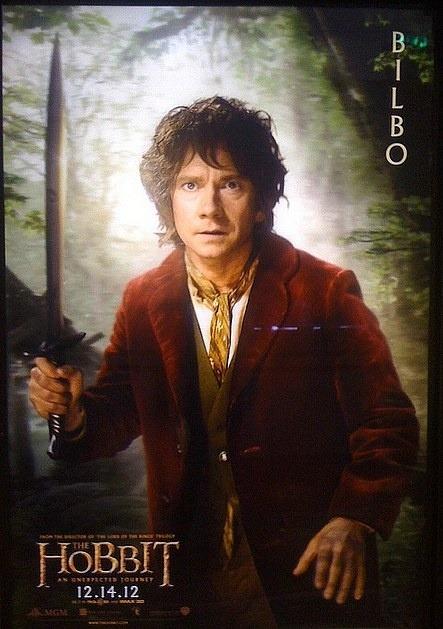 """""""EL HOBBIT"""" poster de Bilbo."""