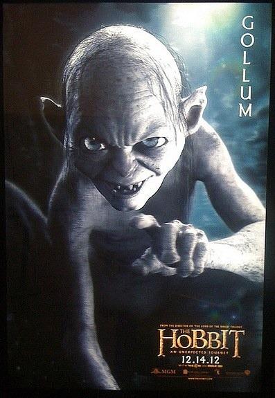 """""""EL HOBBIT"""" poster de Gollum."""