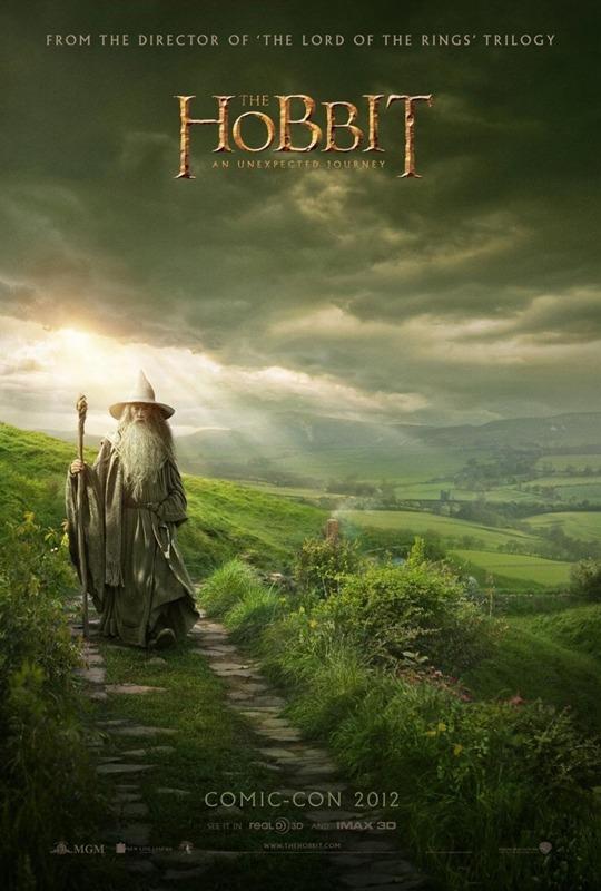 """Nuevo poster de """"EL HOBBIT"""" con Gandalf como protagonista."""
