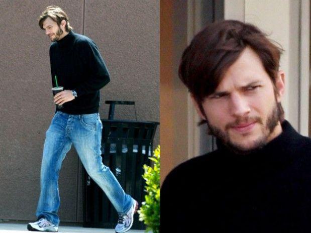 Primeras imagenes de Ashton Kutcher caracterizado como Steve Jobs.