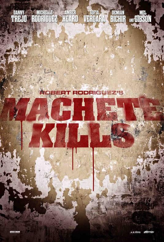 """Poster de la secuela de """"Machete"""": """"MACHETE KILLS"""""""