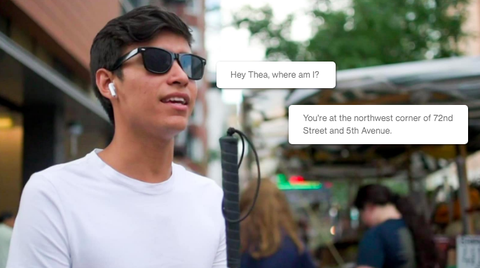 Conversational UI - Thea is a system that is easy to use and understand. It responds to requests like a real person, adapts to voice inputs, and provides an unparalleled navigation experience.