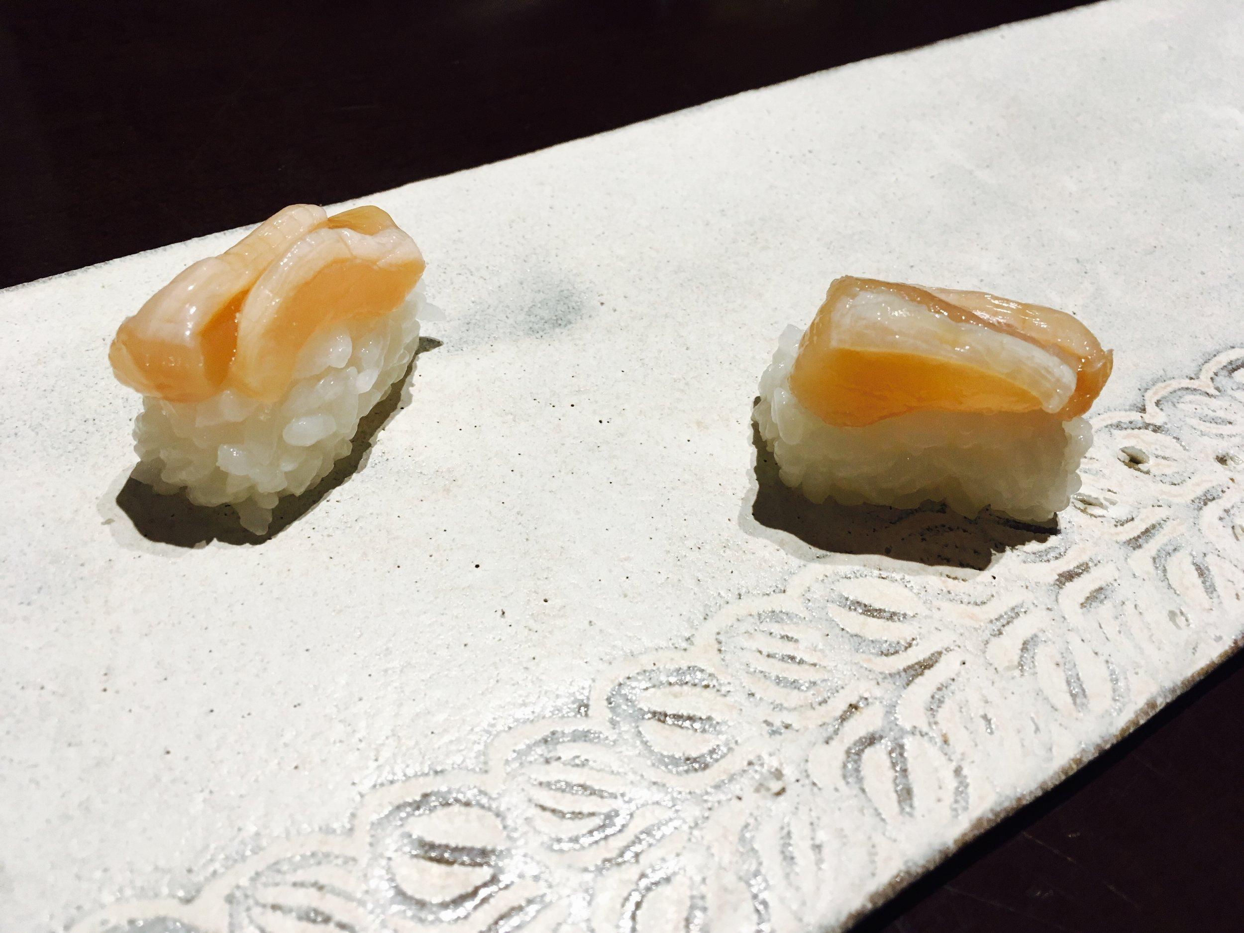 アコヤガイの貝柱。長崎は、真珠養殖量が日本で二番目に多い。