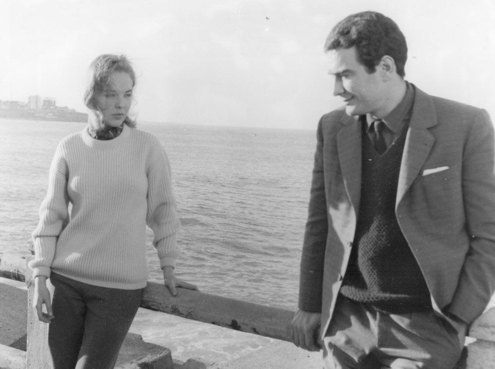 """Paloma Valdés y Alfredo Alcón, en el rodaje de """"Los Incocentes"""""""