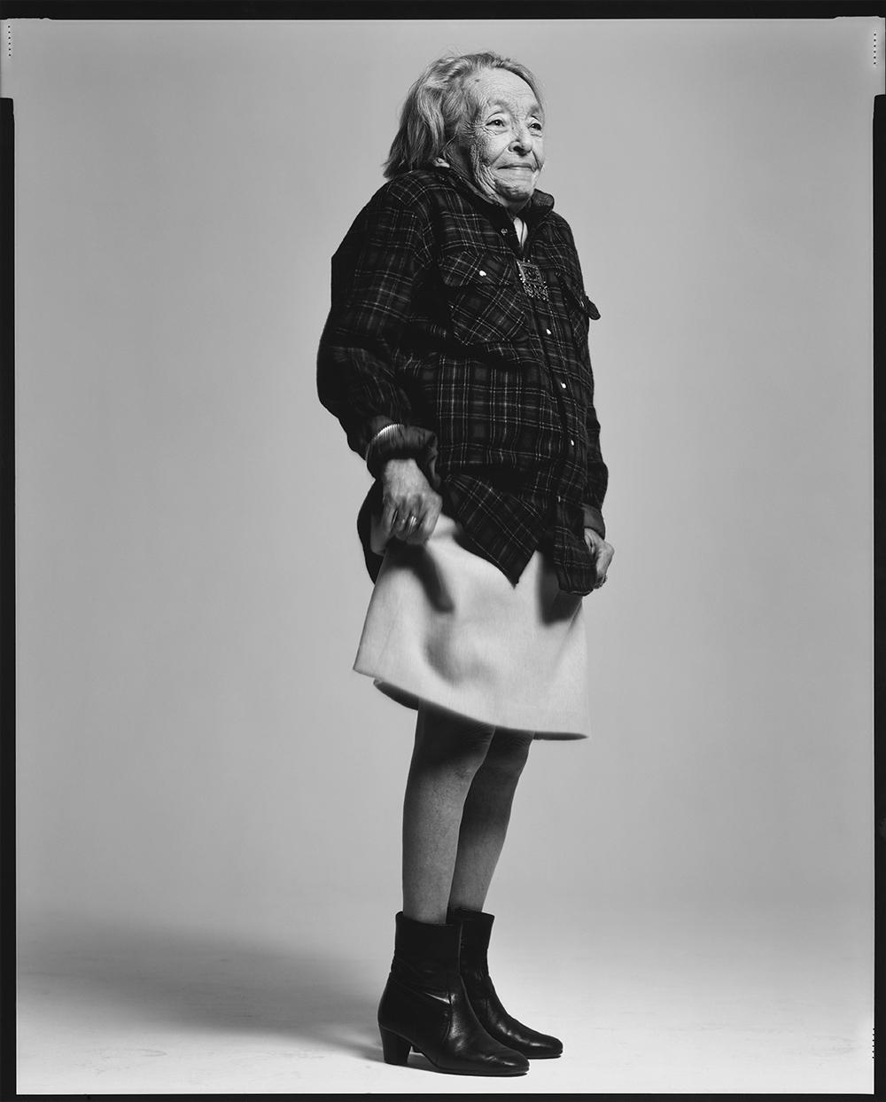 Marguerite Duras, por Richard Avedon, 1983