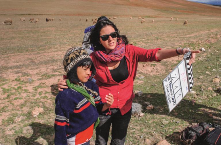 Imagen del rodaje de 'Aya'(Perú, 2016), con su directora Francesca Panepa. La película fue galardonada recientemente en el FICG Festival Internacional de Cine en Guadalajara, con el premio a Mejor Cortometraje Iberoamericano 2017.