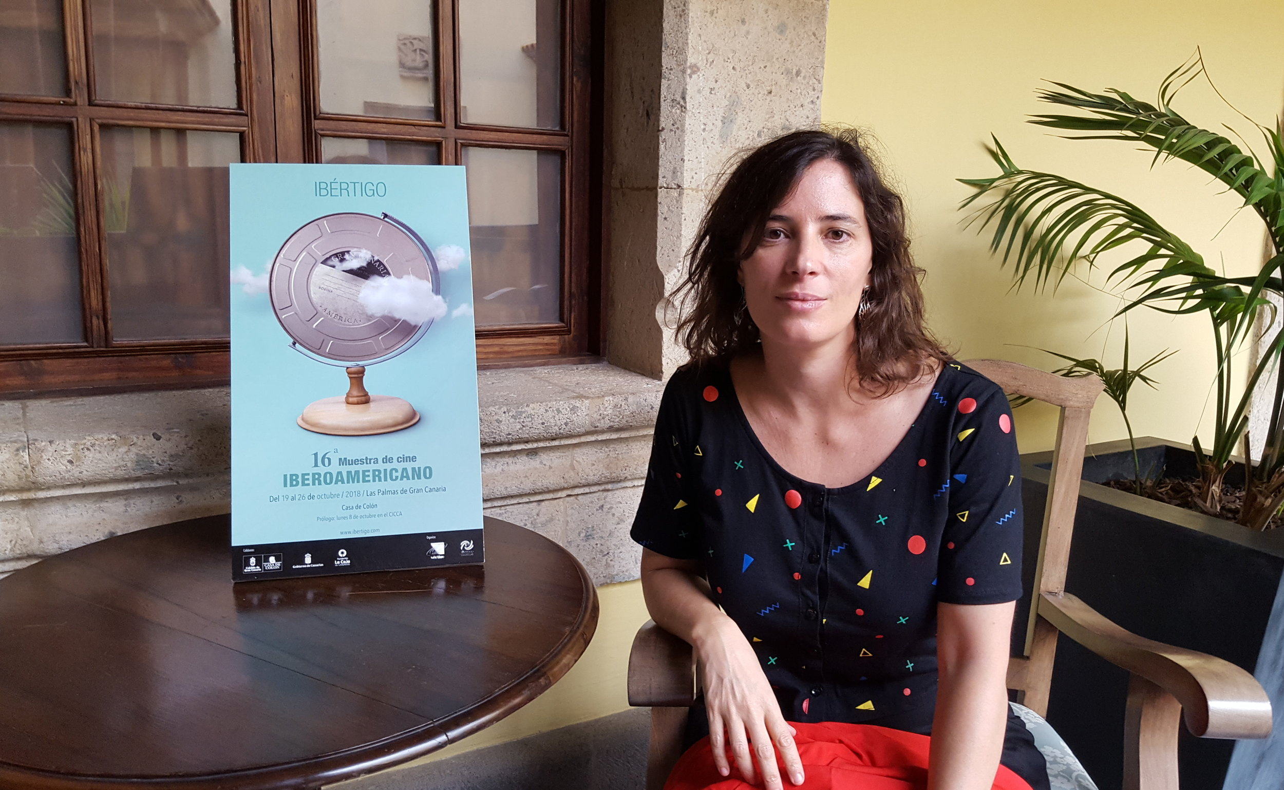La cineasta argentina Milagros Mumenthaler en la Casa de Colón