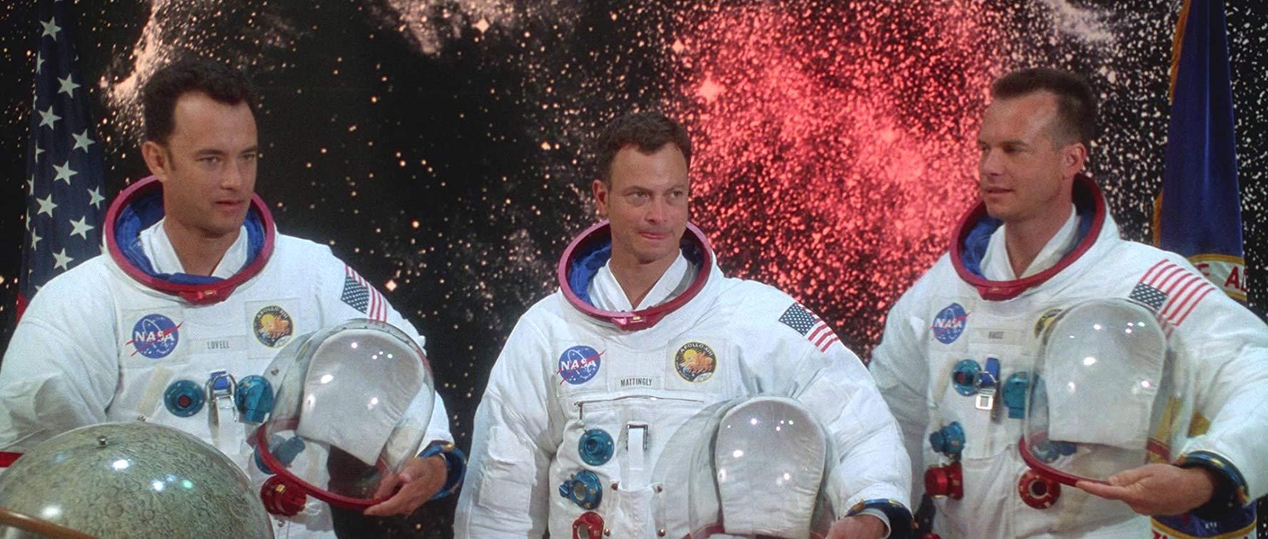 Tom Hanks, Gary Sinise y Bill Paxton en 'Apolo XIII' de Ron Howard (1995)