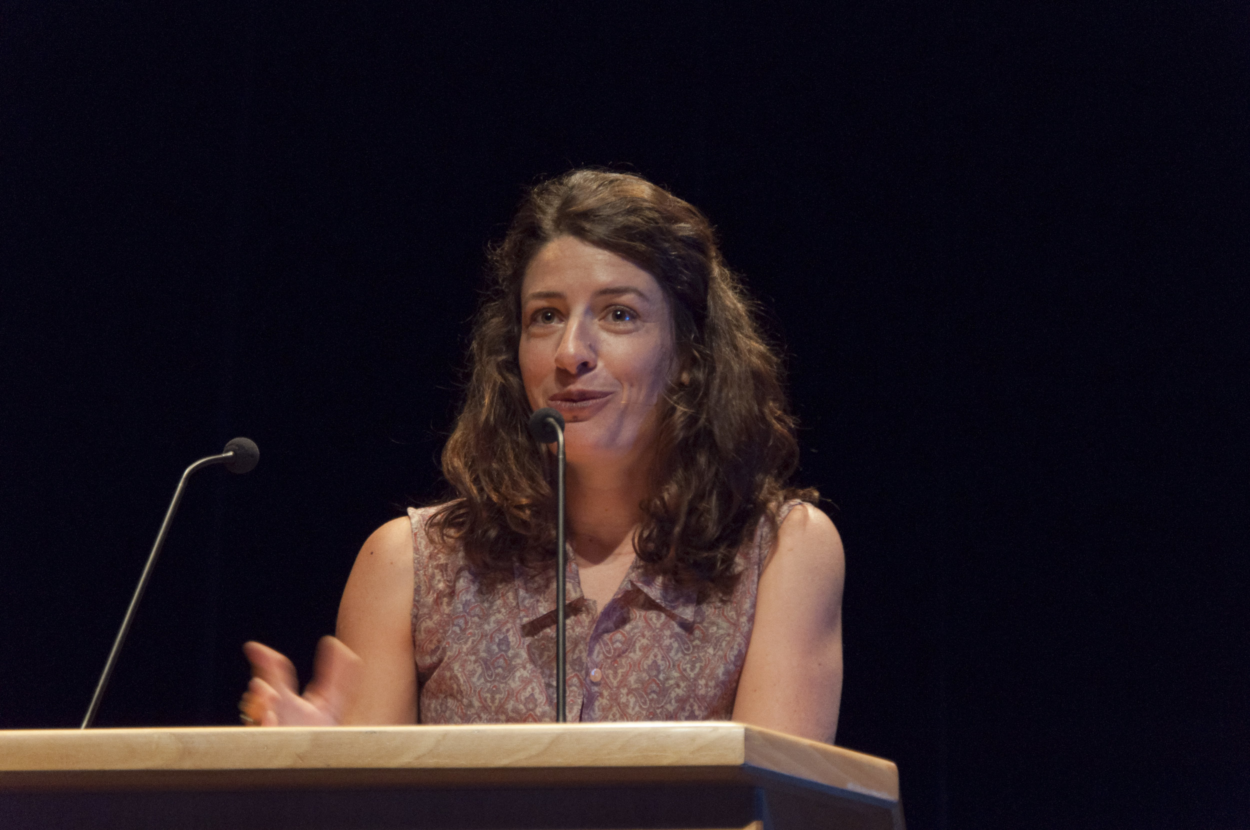 Marine Discazeaux, en su emocionado discurso de agradecimiento, tras recibir el Premio del Público.
