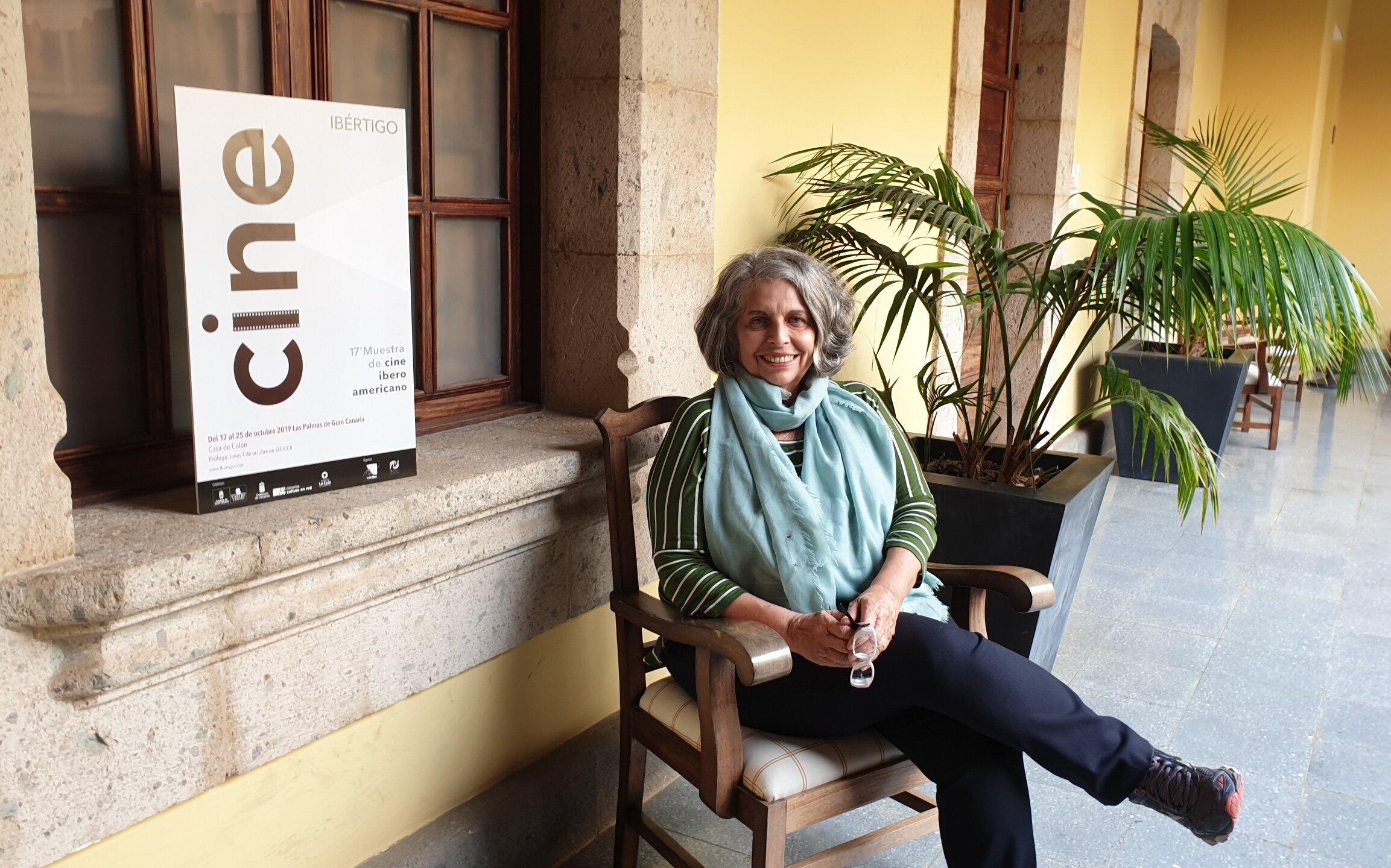 La cineasta brasileña Lúcia Murat en la Casa de Colón.
