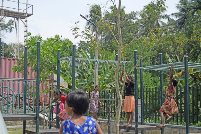 Great to see the kids being active in their new play space