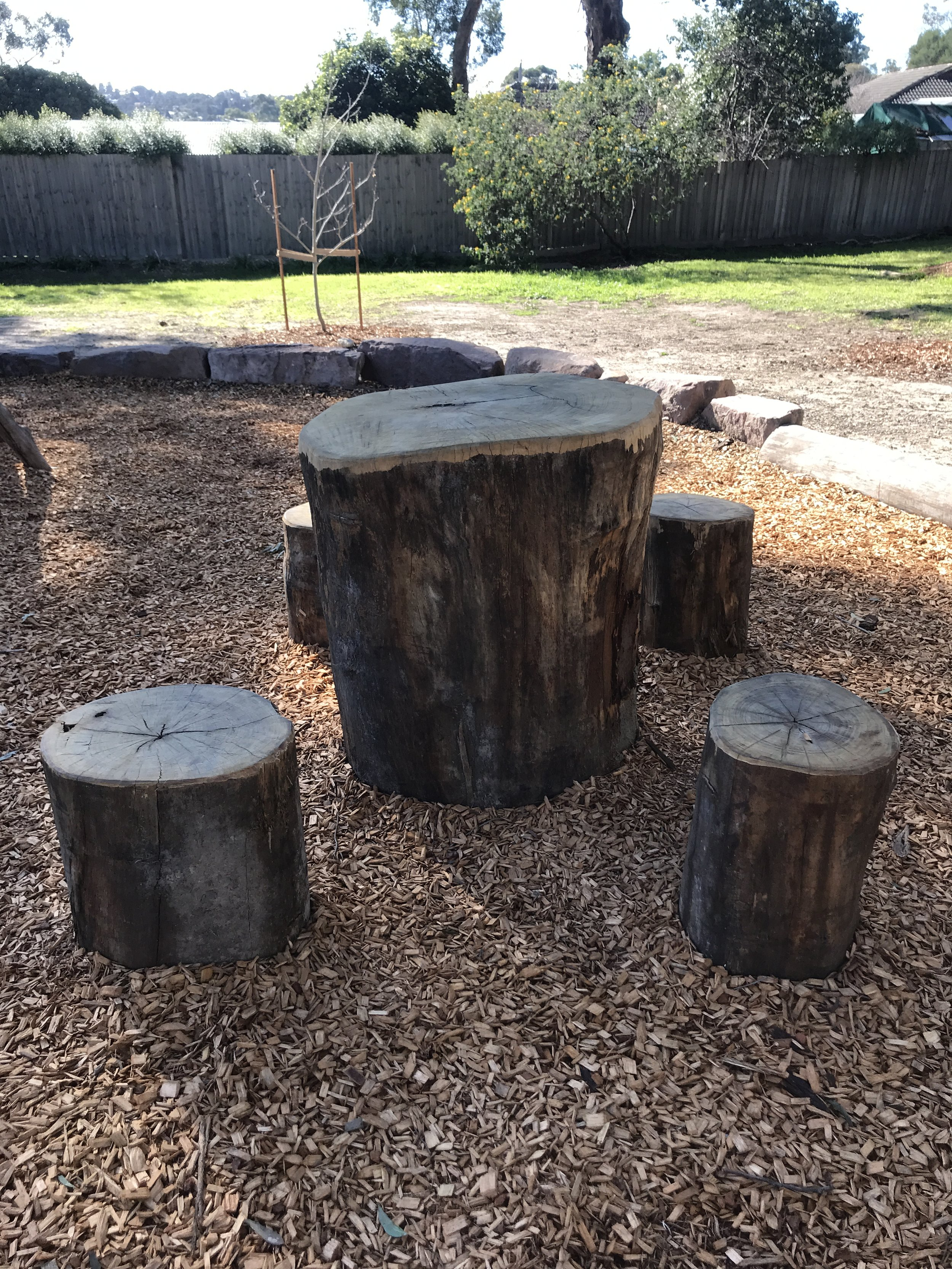 Omnitech Nature Play stepping stones