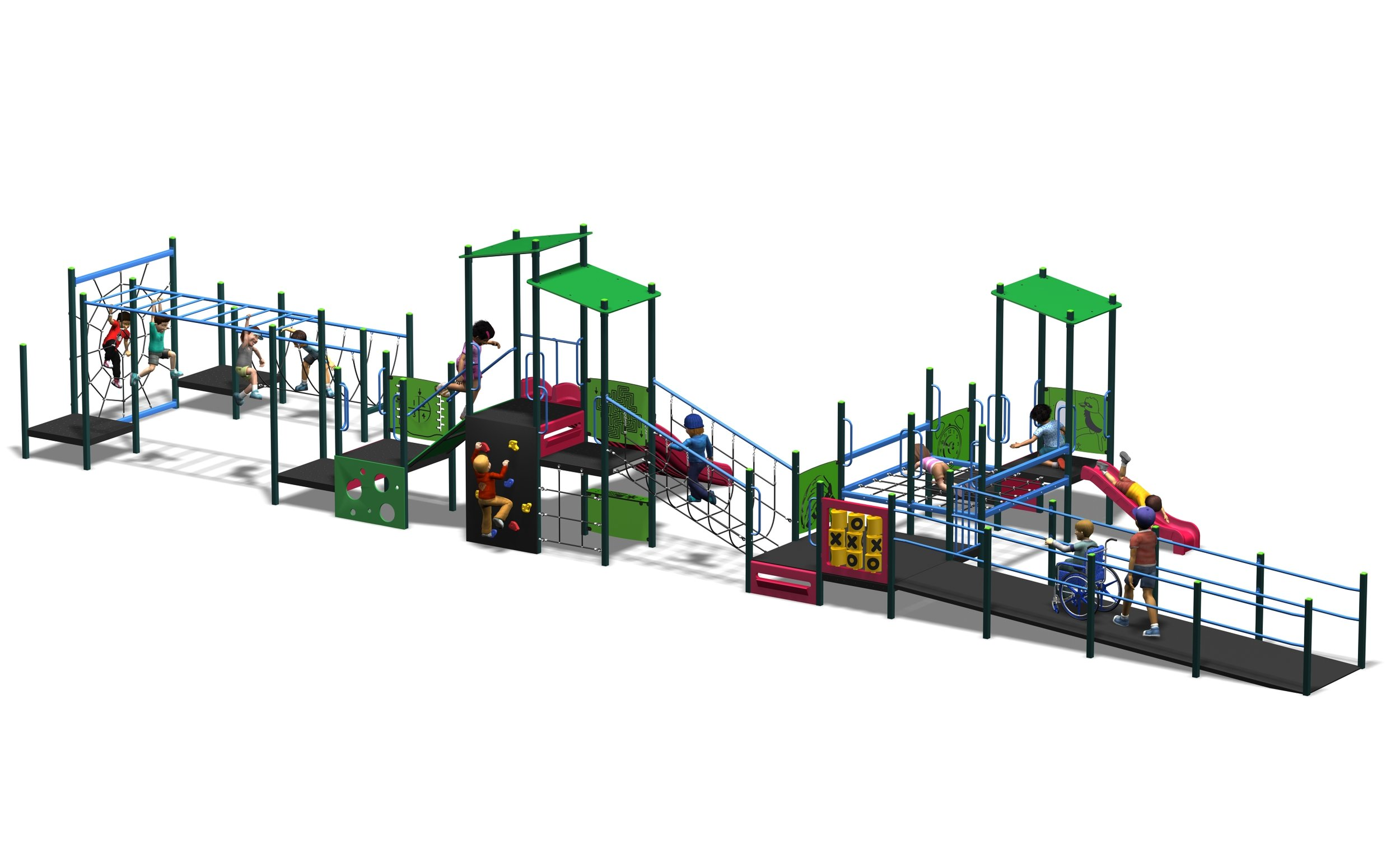All access unit with sensory panels