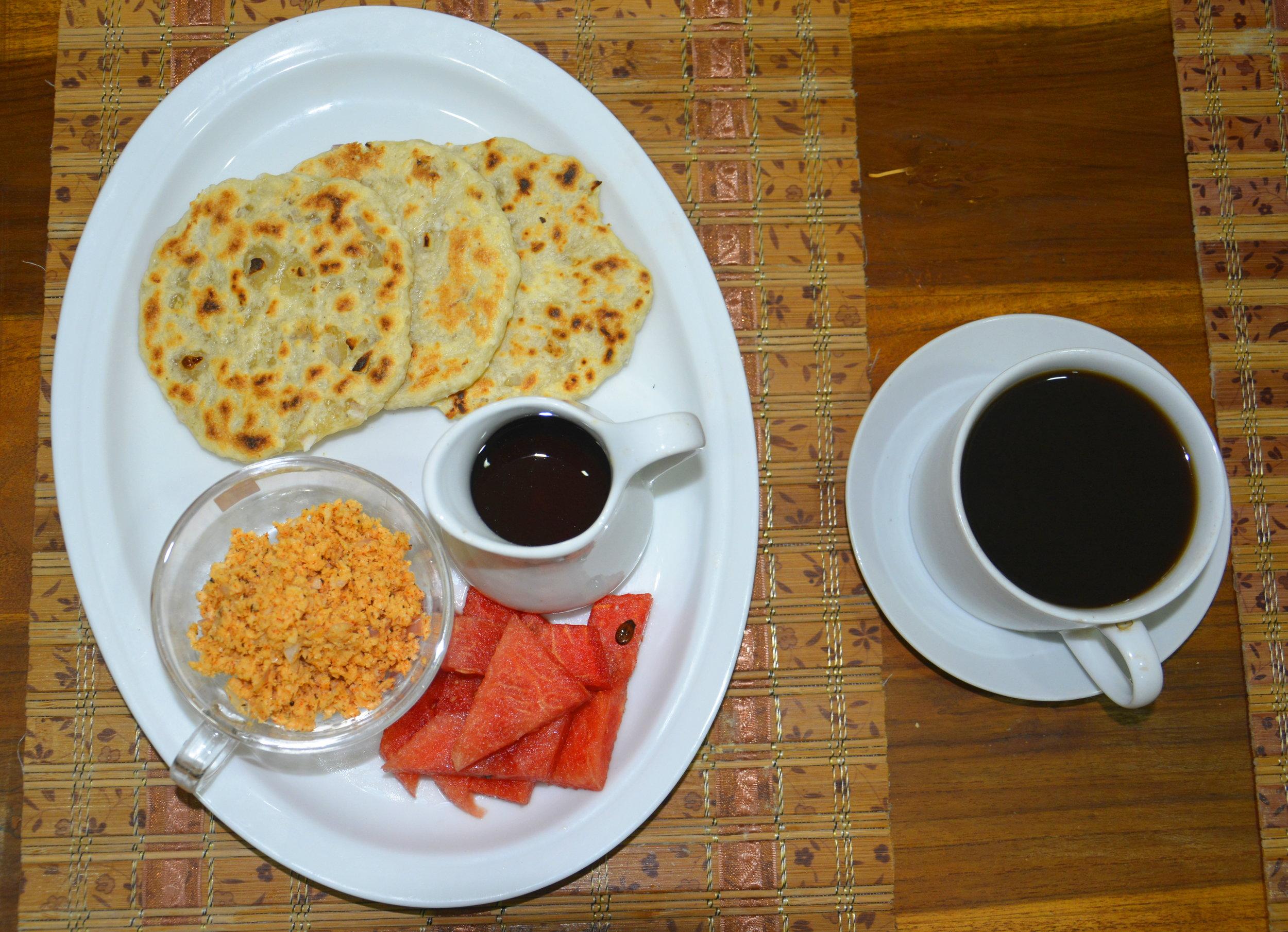 Breakfast: Coconut Roti & Coconut Sambal
