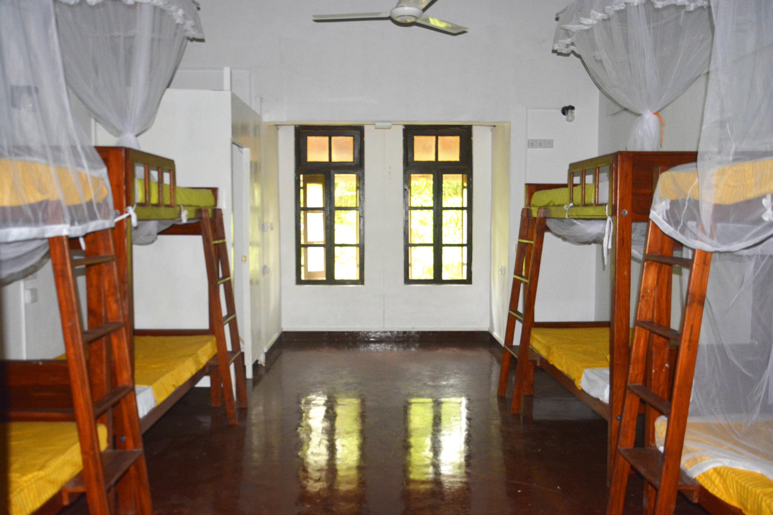 Female Dorm Looking to Windows