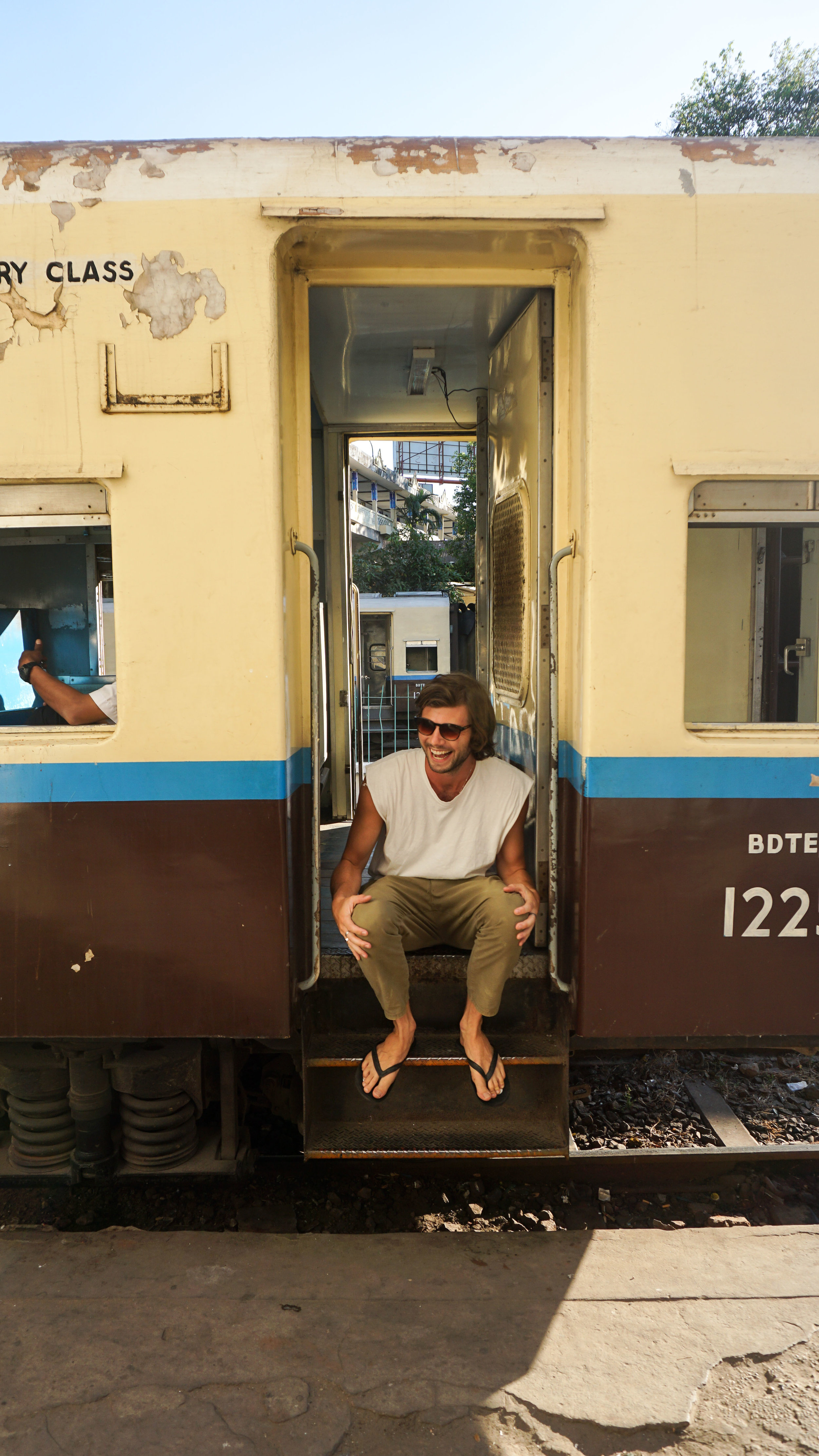 The circle line in Yangon is one of the best ways to explore the city.
