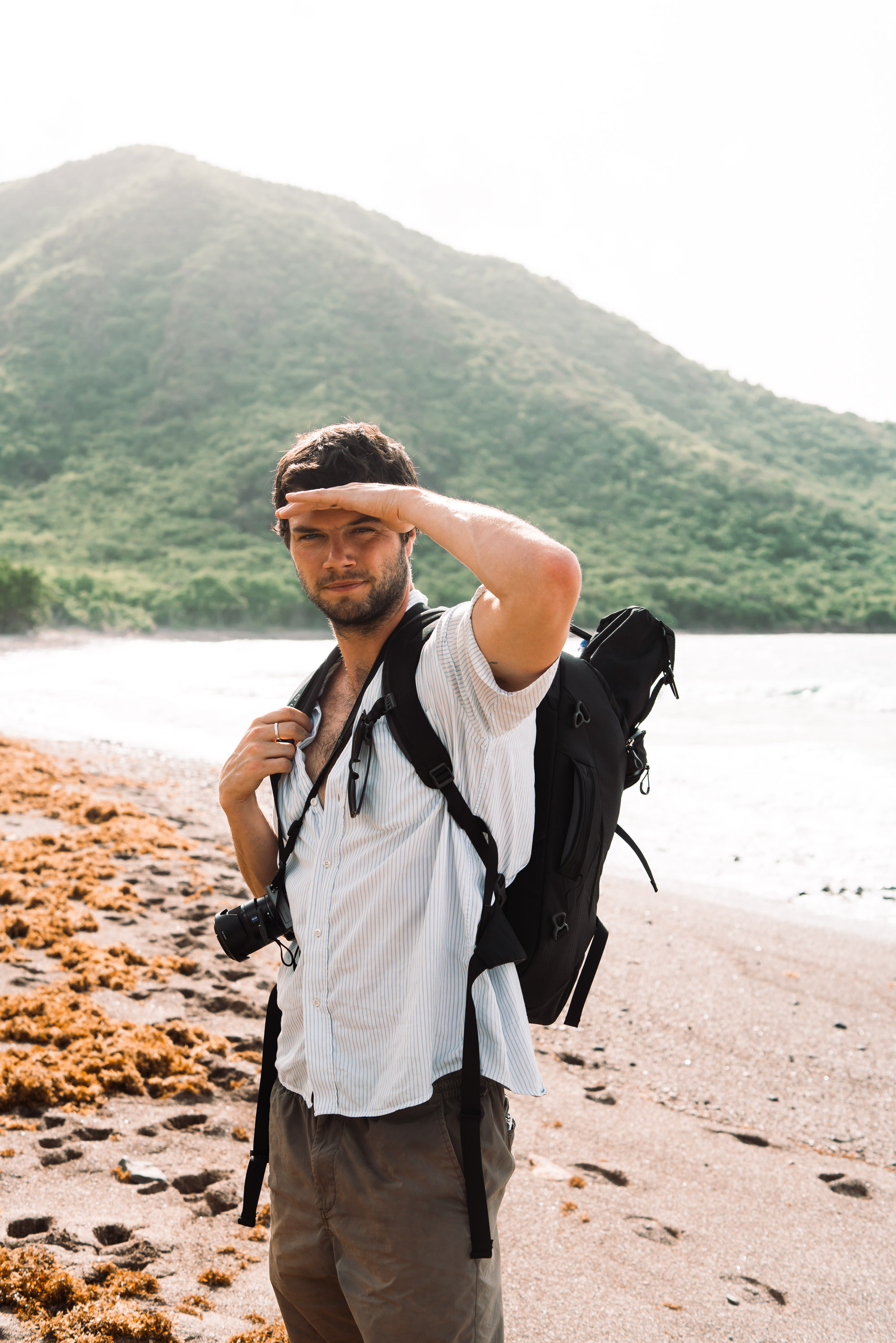 Charlie Hiking To Rendezvous Bay - The Travel Project