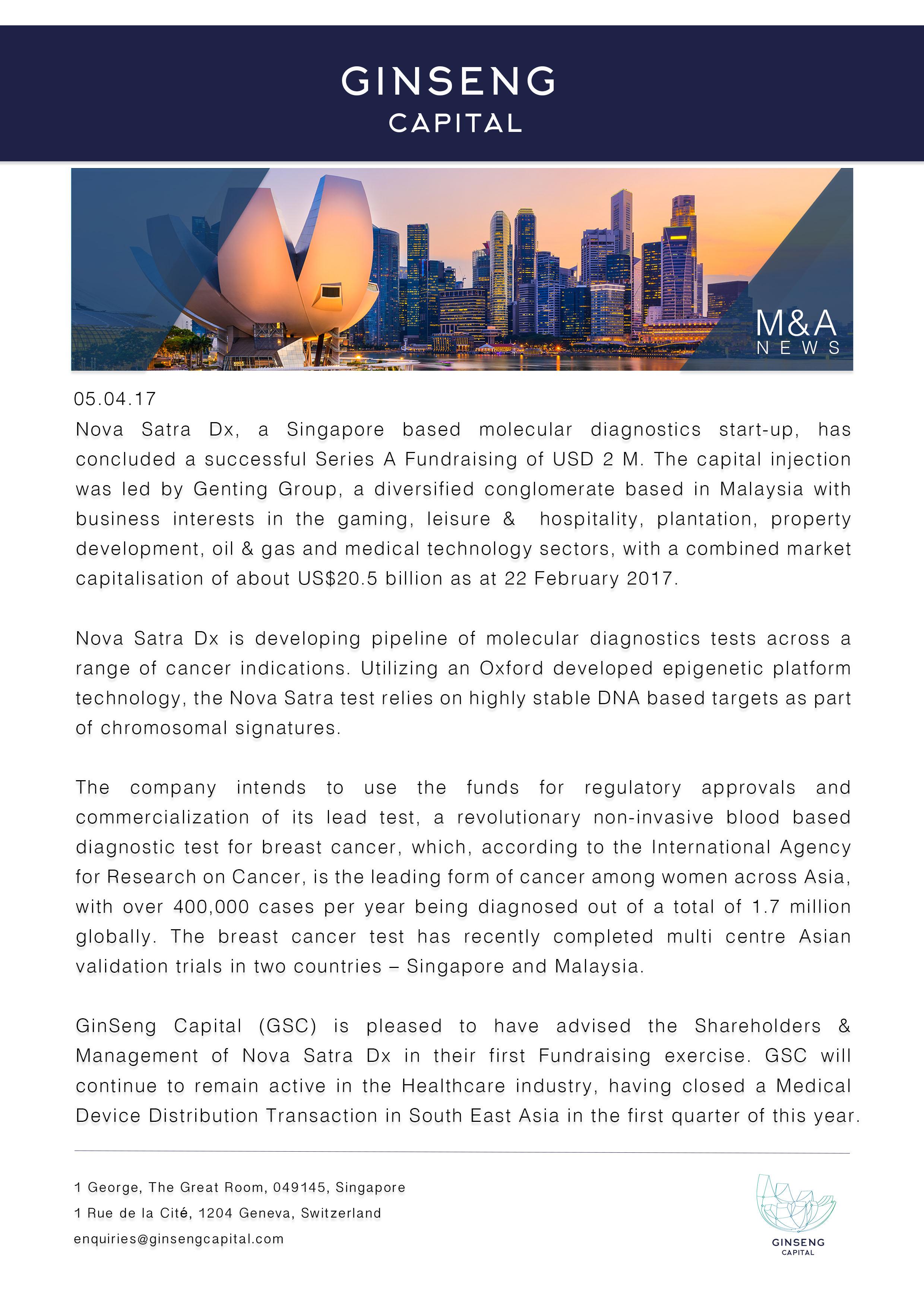 Nova Satra | Ginseng Capital 2017