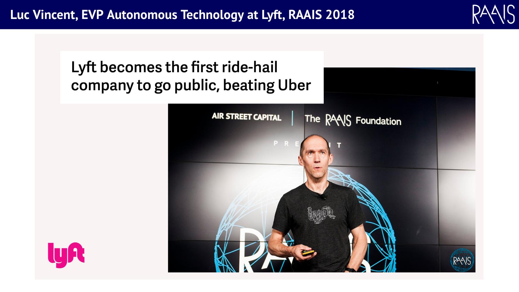 Luc Vincent, Lyft, RAAIS 2018
