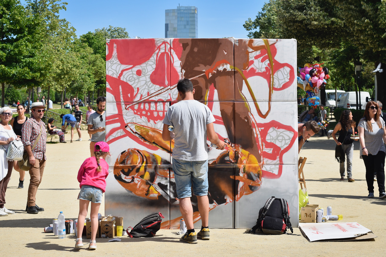 La zona artística, BCN Honey Fest 2017, photo © Eva Barton