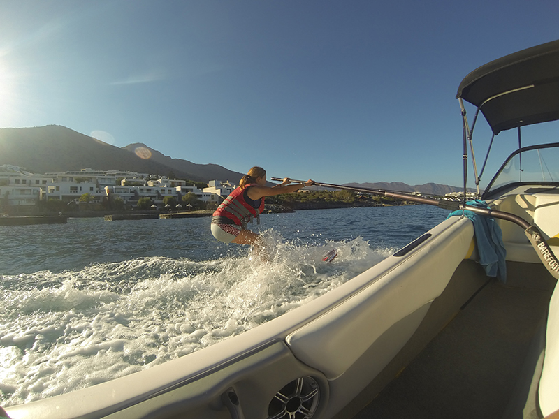 Learning to waterski