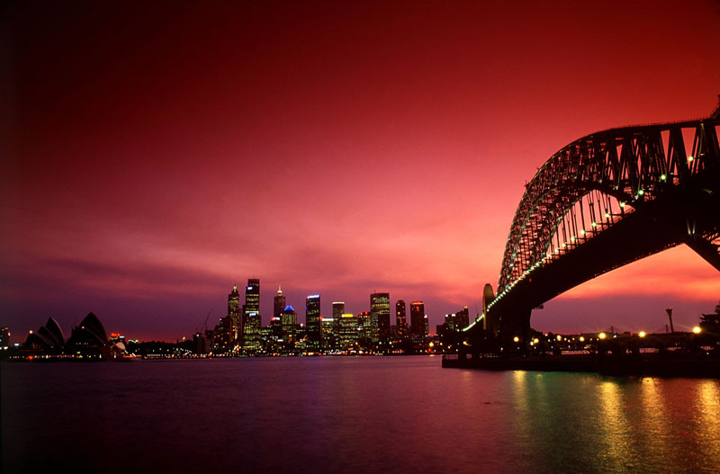 Sydney Central Business District and Harbour Bridge