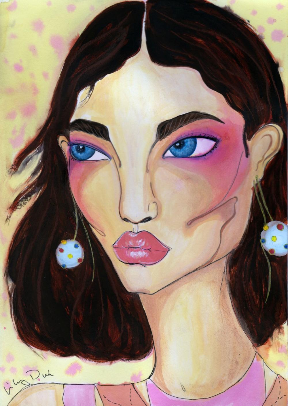 Mckenna: Valentino ss 2018 Pat mcgrath make-up