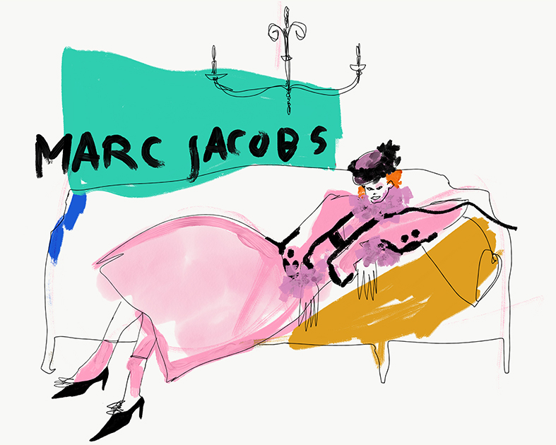 Laying in MarcJacobs SS19