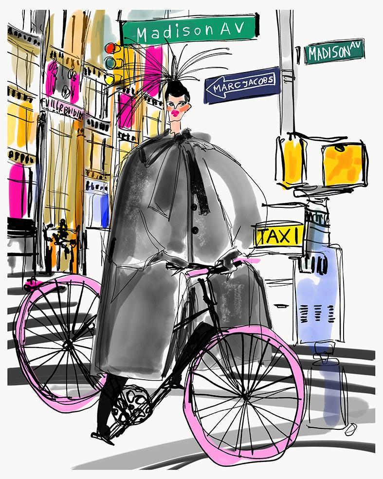 Riding around town
