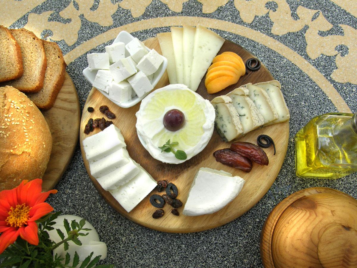 Cheese Plate at the Pundak, Kibbutz Neot Smadar