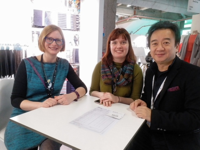 Me and Aleks with a representative from Winning Textiles.