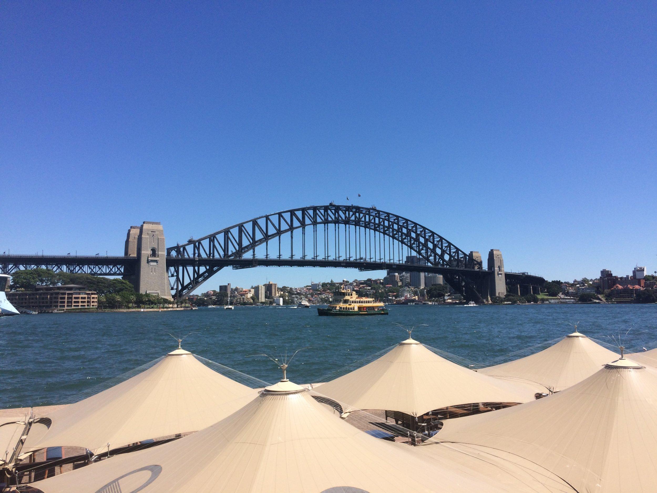 The Sydney Harbour Bridge: a fantastically large bridge