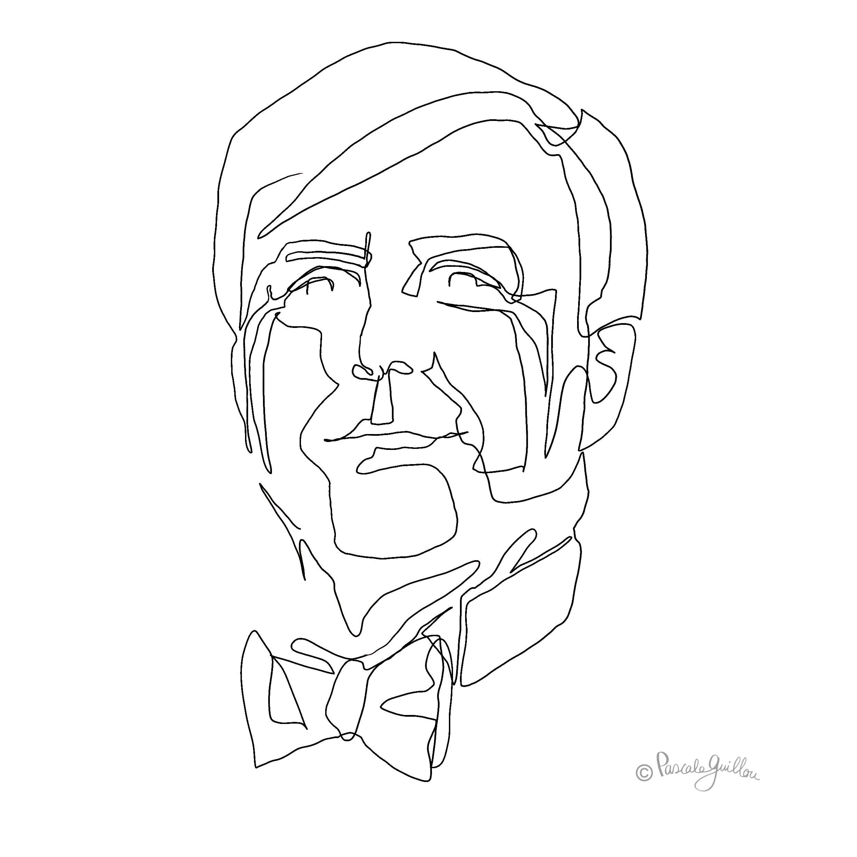 Willem-Alexander One line portrait ©Pascale Guillou