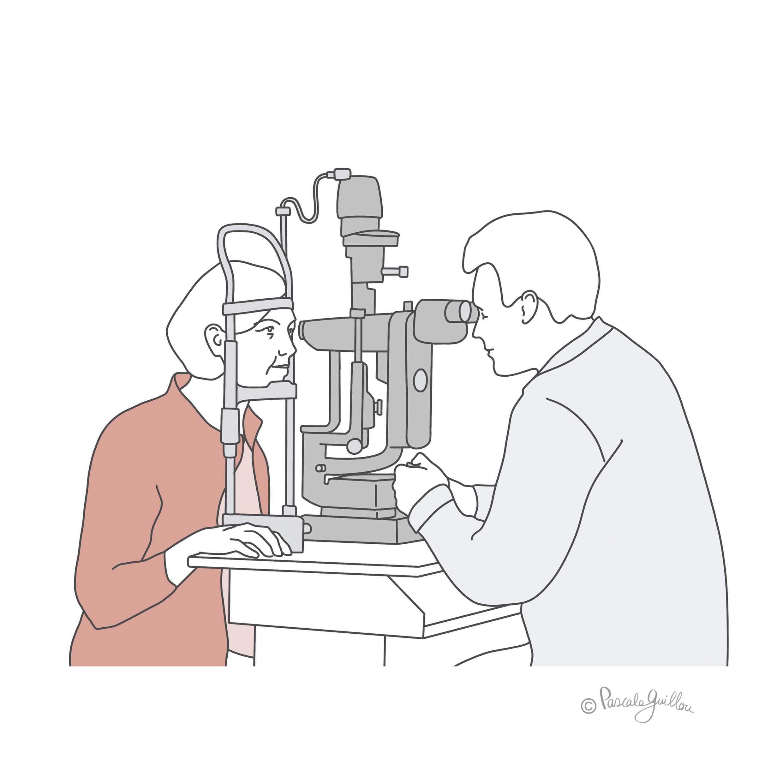 CoQun VisuFarma 2 Glaucoma Illustration  ©Pascale Guillou