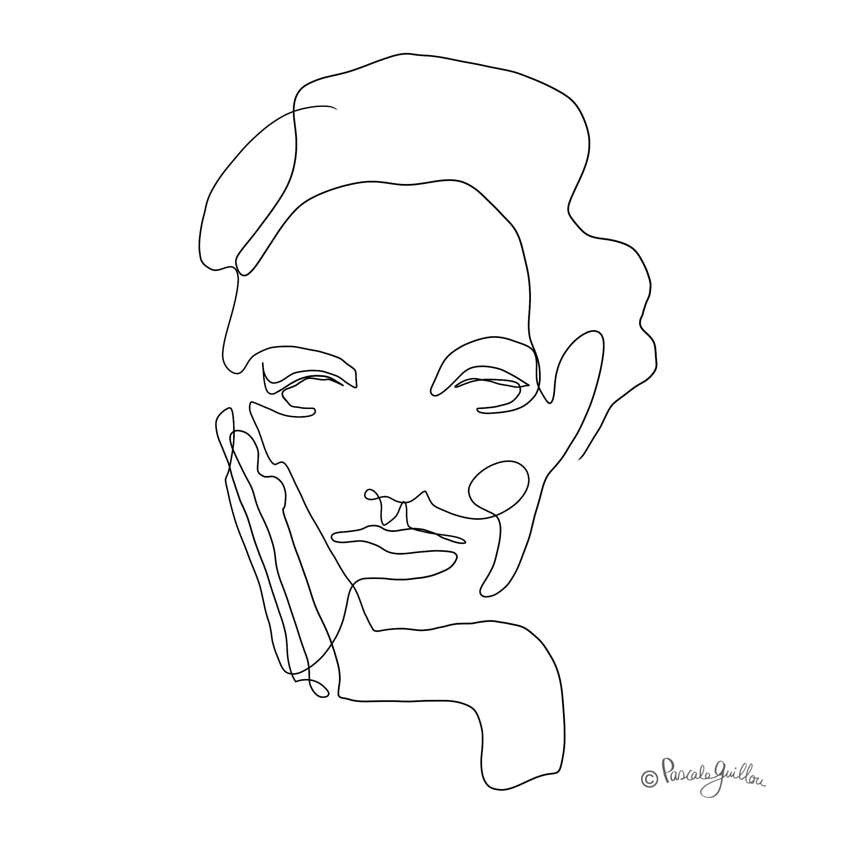 One line portrait ©Pascale Guillou