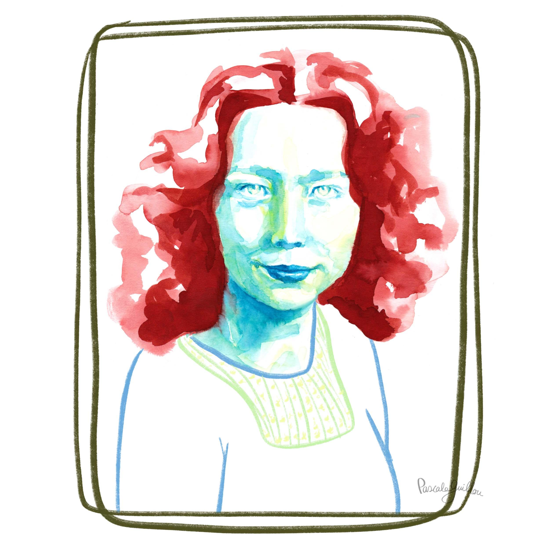 Hannie Schaft Portrait  Editorial Illustration ©Pascale Guillou