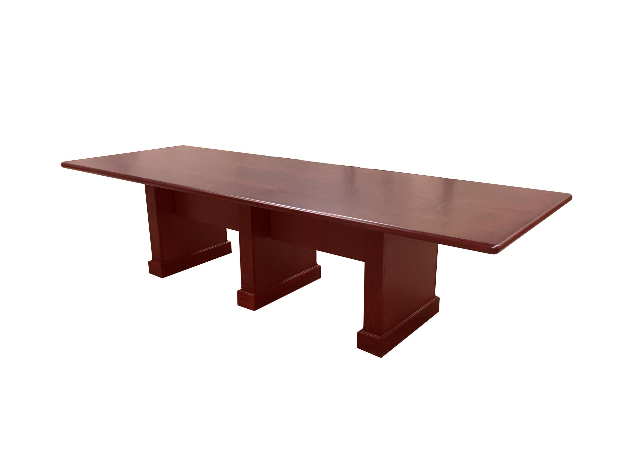 3 pedestal Cherry confernece table