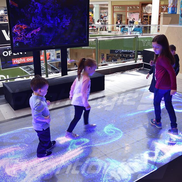 "Paint with your touch as swirly glimmers and colors mesh together in our visually stunning app, ""Particle Dreams"". #brightlogic #jeffersonvalleymall #arcade #activefloor #activefloorsystem #interactive #floor #touchsensitive #content #visualizer #rentals #mall #socialevent #touchsensitive #experiential #leds #interactivefloor #interactiveledfloor #ledfloor #ledpanels #ledfloorrental #ledpanel #fun #visualstyle #magical #apps"