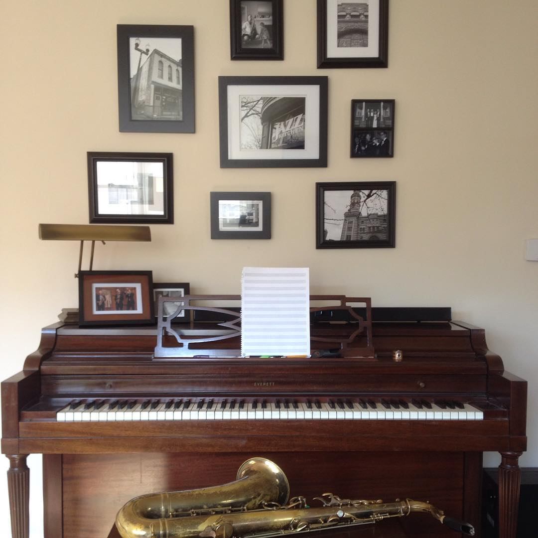 piano workspace at home