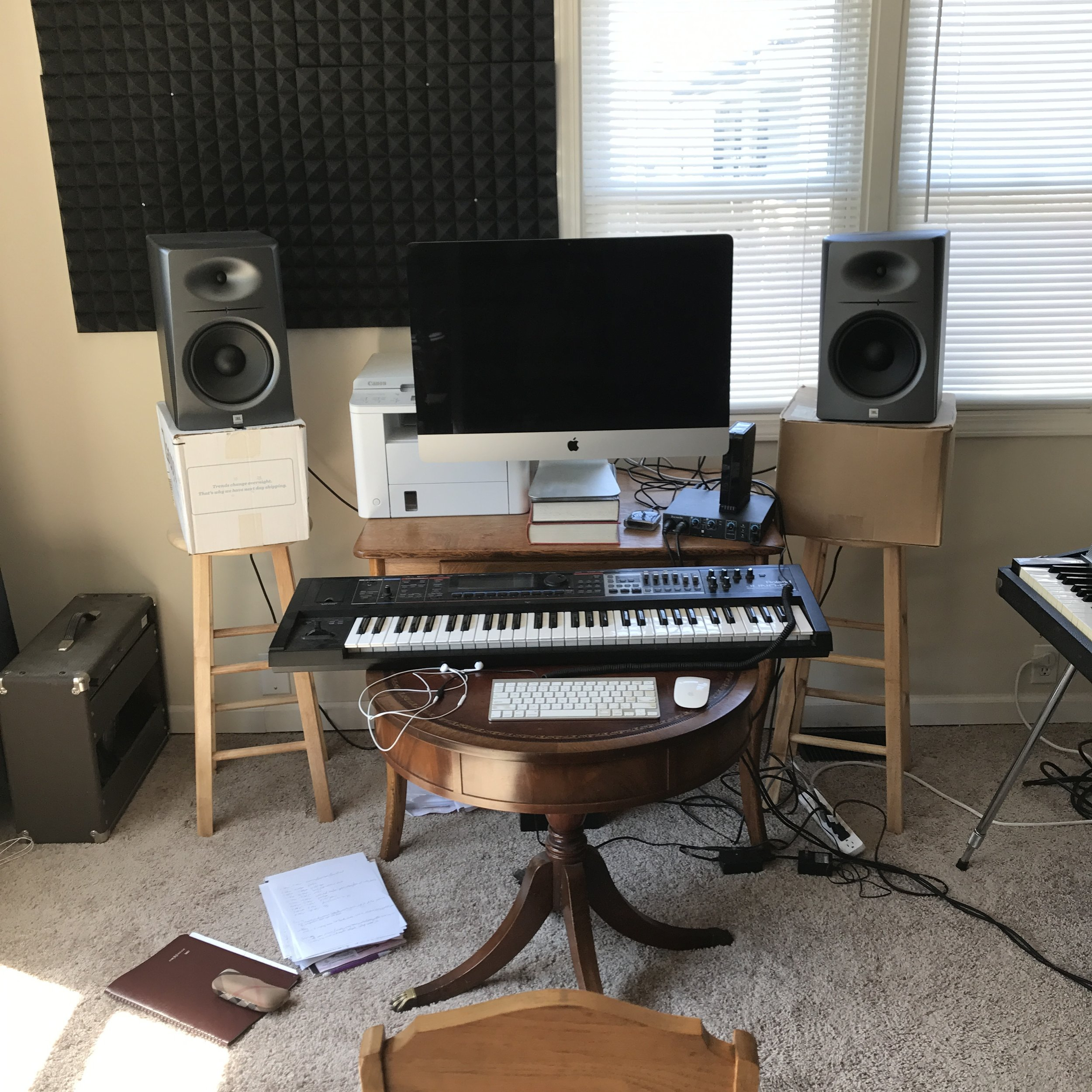 computer workspace at home, where dreams become reality