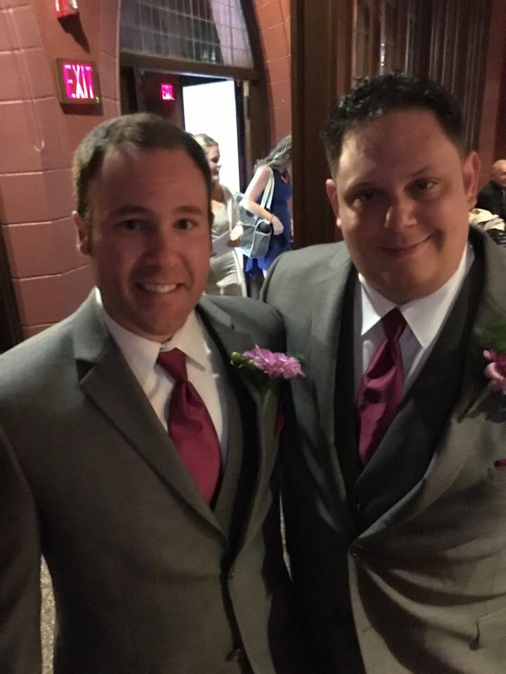 Kevin & Jesse as groomsmen at their friend's wedding (July 2016)